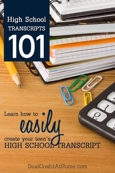 Don't stress over creating your student's high school transcript. Download our free template!