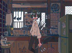 "kanekoshake: ""台所の番人 """
