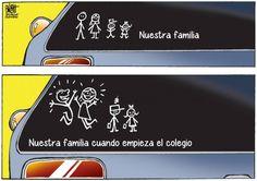 #Humor Nuestra familia cuando empieza el colegio