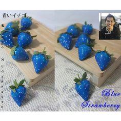 Blue Srtrawberry Cake