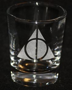 Harry Potter Deathly Hallows Symbol Custom Etched by Fanboyglass, $8.00