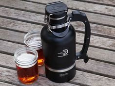 Personal Growler by DrinkTanks 64 oz keeps designer beers (or anything) cold up to 24 hrs and stuff hot  12 hr+. specifically designed for Craft Beer. $69 can be found on www.TheGrommet.com
