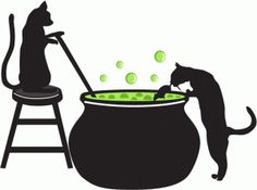 Silhouette Design Store - View Design #66197: cats brewing potions