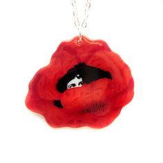 Wonderland Poppy Necklace, $22, now featured on Fab.