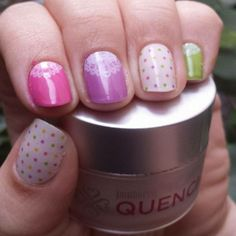 """""""A Touch of Lace"""" layered over Pastel Polish. Accented with """"Confetti Cake."""" Love this """"jamicure!"""" Buy Jamberry Nail Wraps here: http://lkite.jamberrynails.net/"""