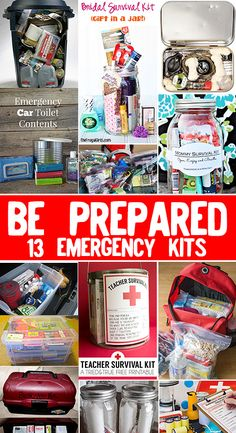 Be Prepared! 13 emergency kits you need to have!