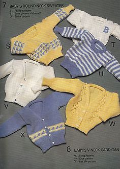 Vintage BOND Knitting Machine Pattern Instructions for Babies Jumpers & Cardigan                                                                                                                                                                                 More