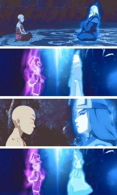 The Legend of Korra/ Avatar the Last Airbender: aang and Korra contacting kyoshi and roku