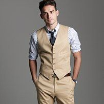 Oh my... Love the vests with no jacket for the groomsmen! great for a summer/ beach wedding!