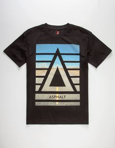 70de7c9fc9c5b2 ASPHALT YACHT CLUB Horizon Apex Mens T-Shirt - BLACK - 285438100. Mens Tees SweatshirtsT ShirtClothesCarouselOutfitClothingKledingSweatshirt