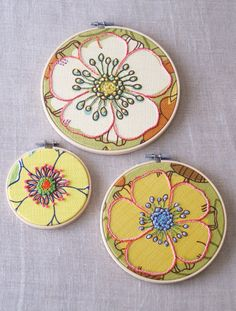 Hoop Art Embroidery Wall Decor Mothers Day by wilshepherd
