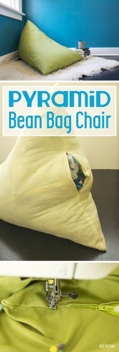 This project is perfect for a beginner sewer to take her skills to the next level by inserting a zipper. Using leftover fabric scraps and polyester stuffing instead of the usual bean bag beans, it's also very affordable. Because the chair is just a rectan Sewing Projects For Kids, Sewing For Kids, Diy For Kids, Sewing Diy, Sewing Crafts, Kids Fun, Diy Bean Bag, Costura Diy, Kids Bean Bags