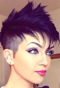 Pixie undercut with faux hawk