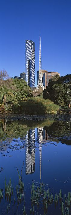 *AUSTRALIA ~ The Queen Victoria Gardens are Melbourne's memorial to Queen Victoria. Located on hectares acres) opposite the Victorian Arts Centre and National Gallery of Victoria, bounded by St Kilda Road, Alexandra Avenue and Linlithgow Avenue Brisbane, Melbourne Australia, Australia Travel, Melbourne Victoria, Victoria Australia, Tasmania, Travel Around The World, Around The Worlds, Melbourne Architecture