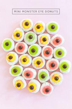 DIY Mini Monster Eyeball Donuts - sugar and cloth