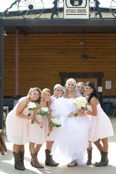 bridesmaid dress color and boots