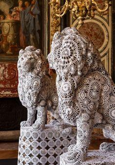 gehaakte kant lions