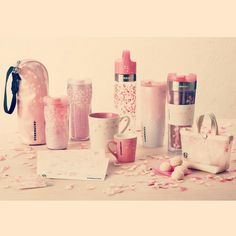 Starbucks seasonal products - Sakura #2013 #Starbucks #tumblr #Japan