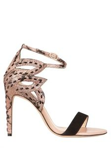 ALEXANDRE BIRMAN - SUEDE AND WATER SNAKE SANDALS