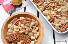 Quick and easy garlic snack mix for the perfect game day treat!