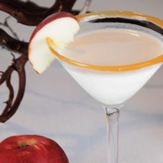 Caramel Apple Martini...yes, yes, yes! Green apple-flavored vodka, Apple Schnapps, butterscotch liqueur & half & half. Cheers:)