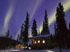 winter cabin alaska