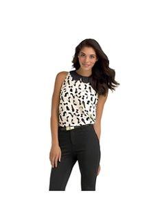 Kardashian Kollection Women's Chiffon Top - Fashion Print. Love this top!!