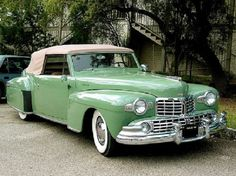 1948 Lincoln Green Cabriolet  with Beige Soft Top.