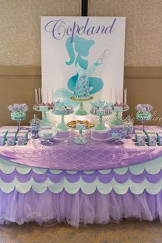 What a gorgeous mermaid birthday party! See more party ideas at CatchMyParty.com!