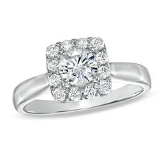 1 CT. T.W. Celebration 102 Diamond Engagement Ring in 18K White Gold