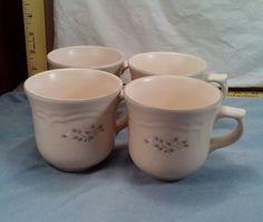 Pfaltzgraff Remembrance Pattern Set of 4 Coffee/Tea Cups Ex. Cond. FAST SHIPPING #Pfaltzgraff
