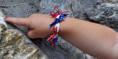 4th Of July Bracelets [Craft for Kids] via TipJunkie.com