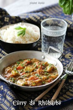 curry de rhubarbe au lait de coco - Rhubarb curry with coconut milk
