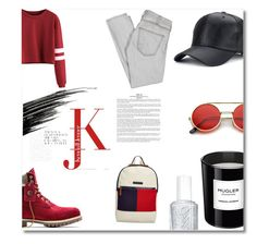 """""""Untitled #8"""" by lucifuk on Polyvore featuring Timberland, Tommy Hilfiger, ZeroUV, Thierry Mugler, Essie, Current/Elliott and Urban Decay"""