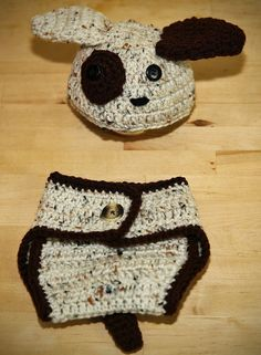 Baby Crochet - Dog Hat and Bottom