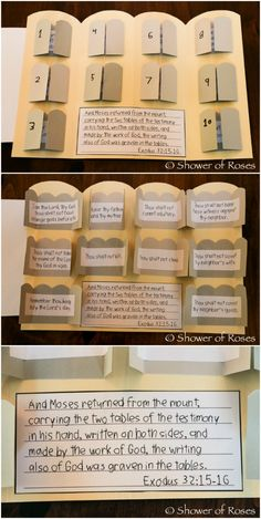 The Ten Commandments Lap Book {Catechism Craft with Free Printables!}