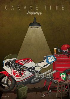 Mercenary Garage: Garage Time  #Yamaha #RD350 #GarageTime #Mercenary #MercenaryGarage Motorcycle Workshop, Motorcycle Art, Bike Art, Guy Martin, Stunt Bike, Yamaha, Honda Cb750, Ducati, Wooly Hats