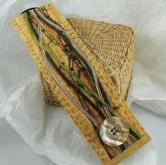 Fabric Cuff Bracelet Warm Nature by KathyKinsella on Etsy, $27.00