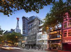 Paris Block / Paris Annex, Gair Williamson Architect Inc. Beautiful entry in the WAN Adaptive Reuse Award Hdri Images, Downtown Vancouver, Brick Facade, Adaptive Reuse, Annex, Exterior Design, Street View, Paris, Architects