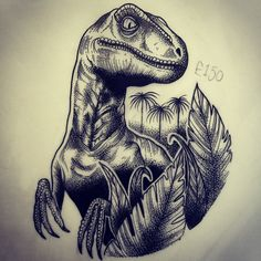 Raptor available, 6x5. lizziecartwrighttattoo@gmail.com