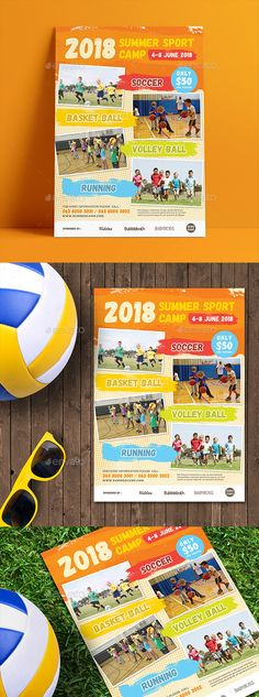 Kids Summer Camp Flyers Boys camp, School sports and Promotion - summer camp flyer template