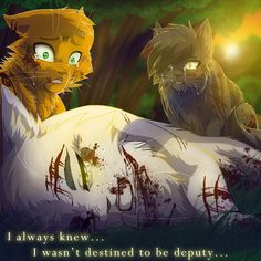 Whitestorm's Death by on DeviantArt << I loved Whitestorm, so this was devastating to me. Warrior Cats Quotes, Warrior Cats Comics, Warrior Cats Fan Art, Warrior Cats Books, Warrior Cat Drawings, Cat Comics, Cat Quotes, Love Warriors, Warriors Game