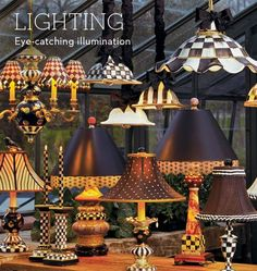 Mackenzie Childs lights and lamps