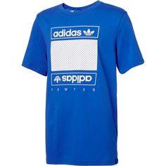 adidas Originals Boys' Mesh Box Logo T-Shirt, Size: Medium, Blue