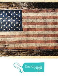Amazon.com: American Flag | Weathered Wood | One of a kind wooden ...
