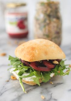 Beet, Arugula and Walnut Sandwich - Delicious Knowledge