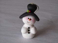 I handcraft my items from polymer clay. No molds or cutters are used.    This ornament is 3 1/4 high.