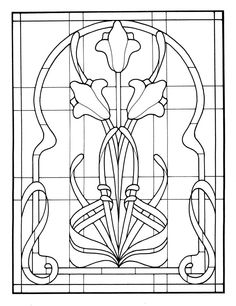art nouveau mucha coloring pages Stained Glass Quilt, Stained Glass Flowers, Faux Stained Glass, Stained Glass Designs, Stained Glass Panels, Stained Glass Projects, Stained Glass Patterns, Leaded Glass, Mosaic Glass