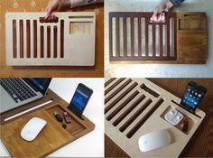 Ноутбук стол стол стол ноутбук портативный Macbook от artWoodworking