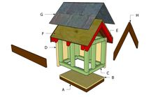 This step by step woodworking project is about how to build a cat house. Building an outdoor cat house is a fun project that doesn't require complex skills. Cat House Plans, Cat House Diy, Igloo Dog House, Dog Houses, Best Interior Paint, Pet Furniture, Woodworking Furniture, Furniture Plans, Woodworking Plans